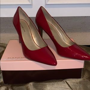 Woman's red pumps